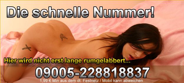 Die Hotline Telefonsex Nummer für geile Sextreffen